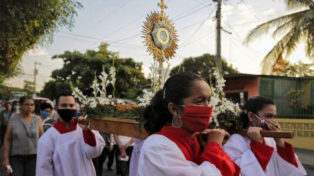 Procesión en Nicaragua