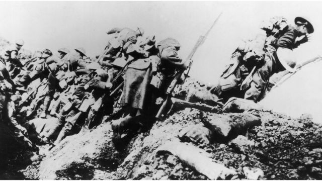 Trincheira britânica na Primeira Guerra Mundial