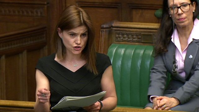 Jo Cox MP in the House of Commons