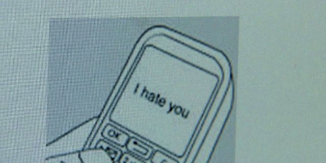 """I Hate You"" on a computer screen"