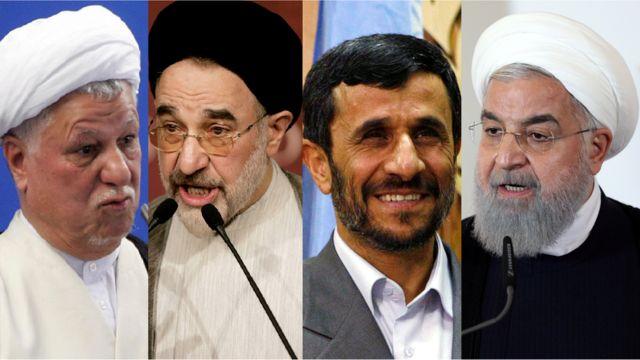 حسن روحانی، محمود احمدینژاد، محمد خاتمی و اکبر هاشمی رفسنجانی