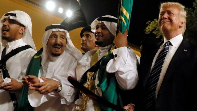 ABD Başkanı Donald Trump ve Suudi Kralı Selman bin Abdülaziz el-Suud