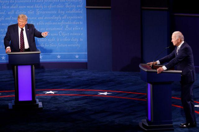 Trump e Biden trocaram diversas ofensas em debate caótico