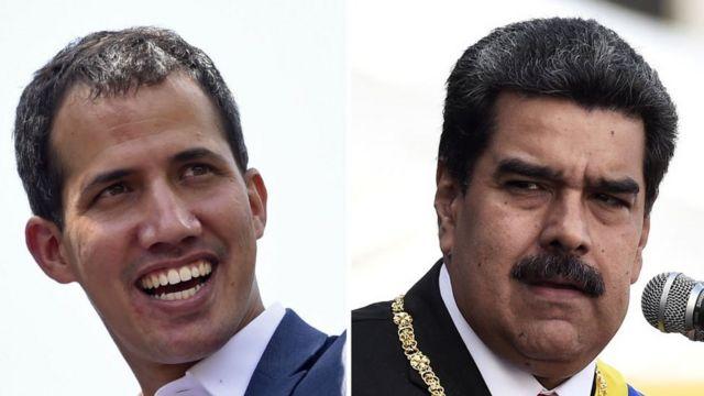 Juan Guidó y Nicolás Maduro