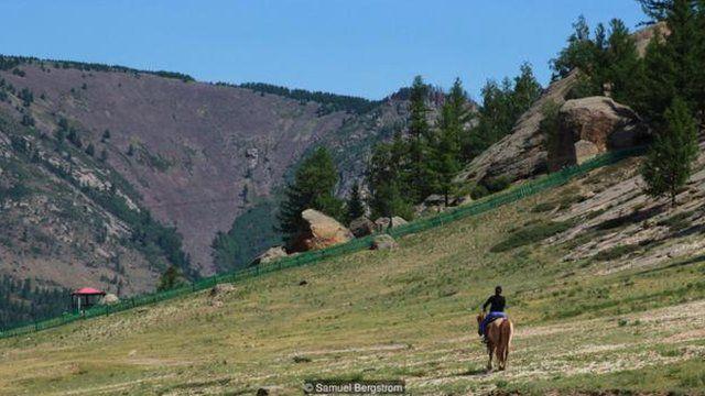 一千匹馬在成吉思汗的墓地踩踏,毀滅一切痕跡(圖片來源:Samuel Bergstrom)