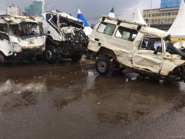 Magari yaliyopata ajali ya kuwatia hofu watu yaletwa mjini Addis Ababa Ethiopia