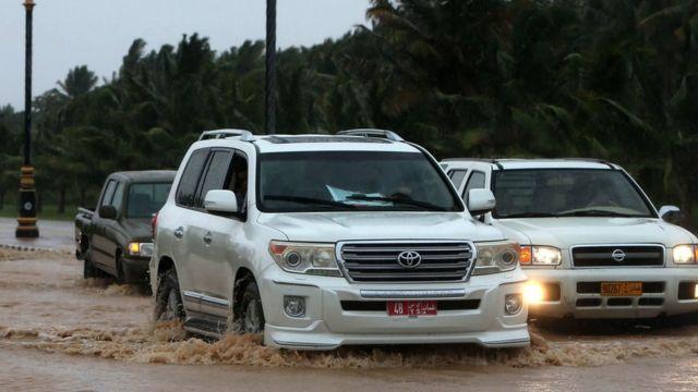 flooded street near Salalah