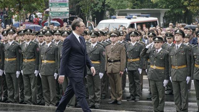 Predsednik Srbije Aleksandar Vučić na ceremoniji promocije oficira Vojske republike Srbije