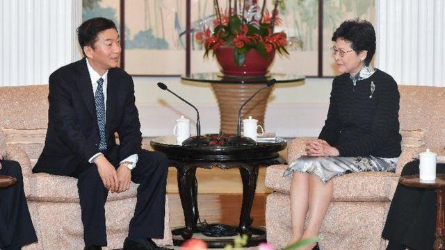 駱惠寧2018年以山西省委書記身份到訪香港,與特首林鄭月娥會面。
