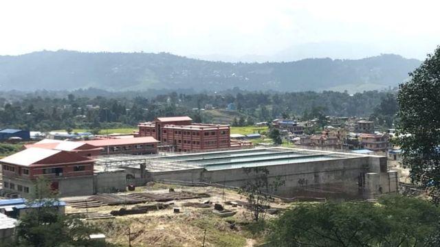 काठमाण्डूको सुन्दरीजलस्थित मेलम्चीको पानी जम्मा गर्ने पोखरी