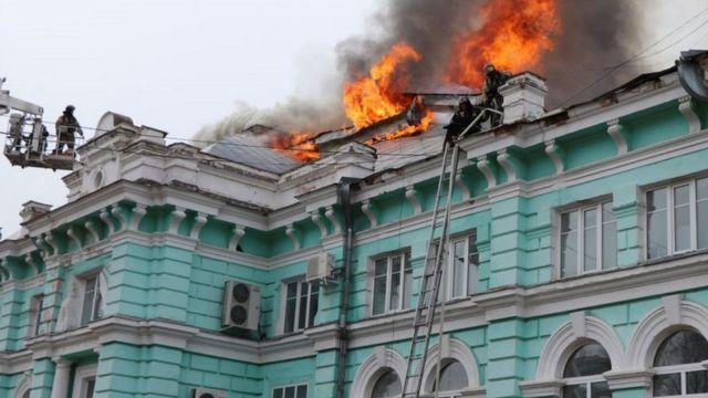 Dab ka kacay isbitaalka Blagoveshchensk, 2 Apr 21