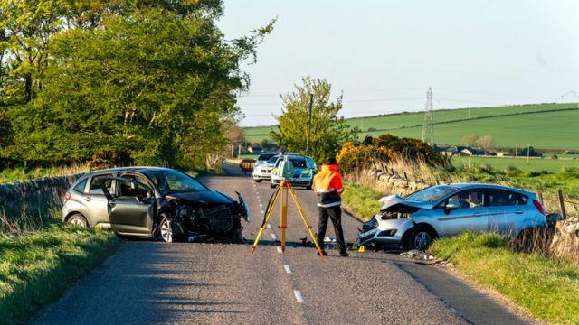 Woman dies in hospital after Aberdeenshire crash