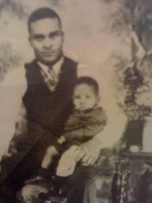 Joe Ligon con su papá
