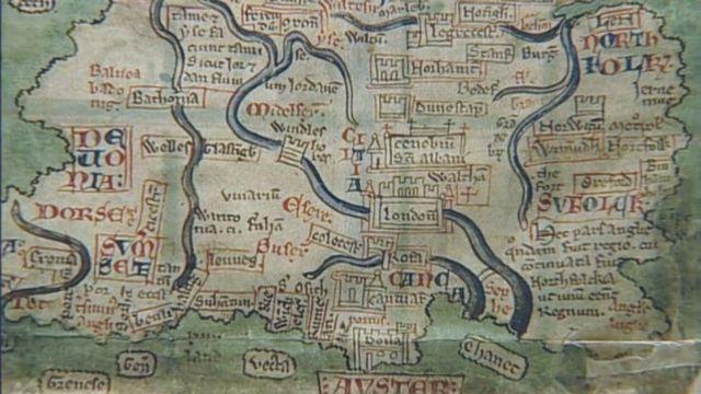 Средневековая карта Лондона