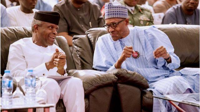 Buhari ati igbakeji rẹ osinbajo n jiroro