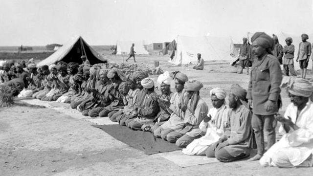 سلطنت عثمانیہ کے خلاف عراق میں لڑنے والے مسلمان فوجی