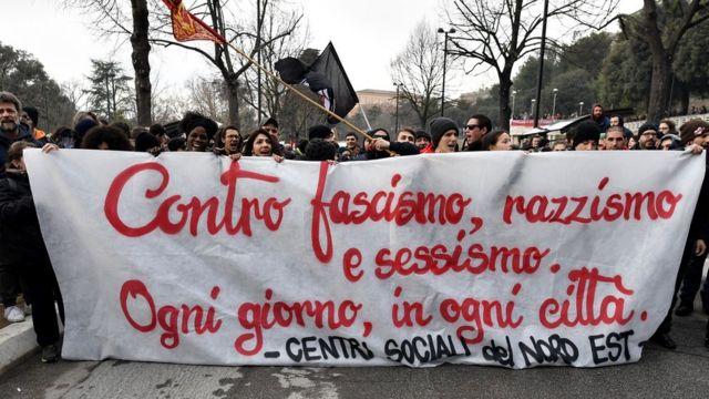 Macerata'daki gösteri