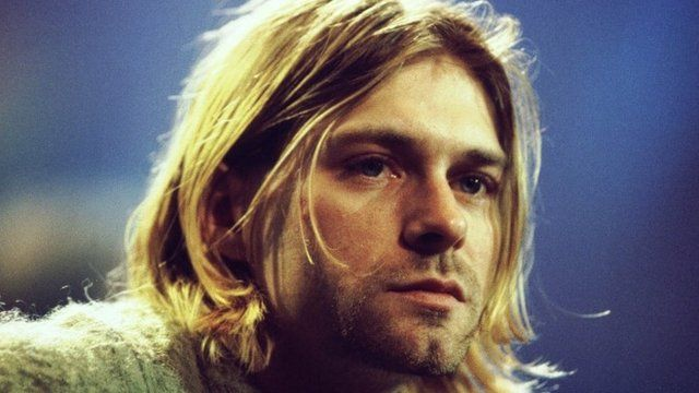 Kurt Cobain pictured in 1993