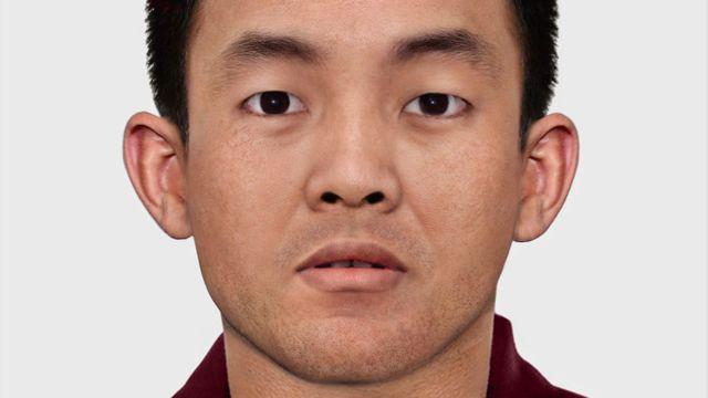 rosto da 11ª encarnação do Panchen Lama envelhecido por computador