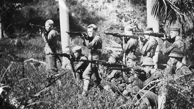 Marines en Haití en 1915.