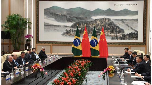 Michel Temer e Xi Jinping