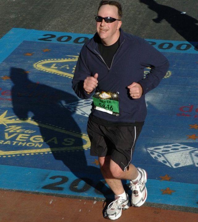 Дерек Мерфи на марафоне в Лас-Вегасе