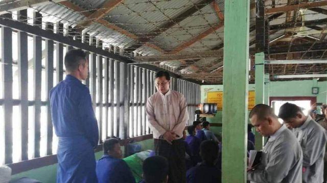 မြန်မာနိုင်ငံအမျိုးသားလူ့အခွင့်အရေးကော်မရှင် အကျဉ်းထောင်တွေကို သွားရောက်