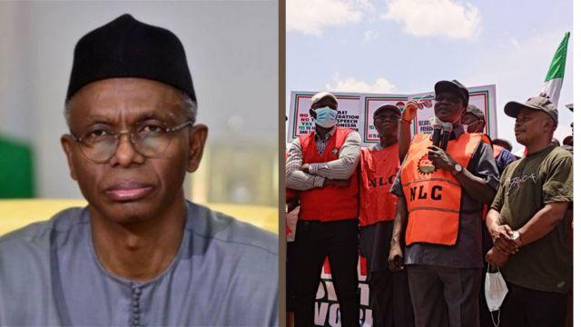 Kaduna State Strike: Governor El-Rufai reveal tough punishment for workers  wey strike - BBC News Pidgin