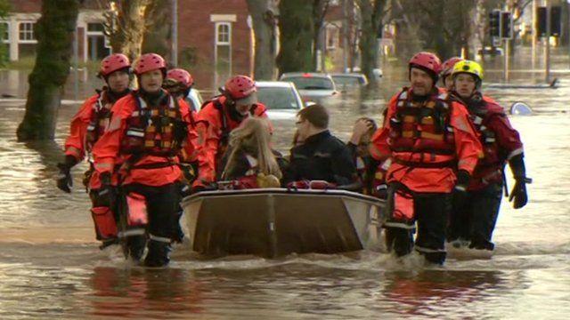 Community spirited flood victims