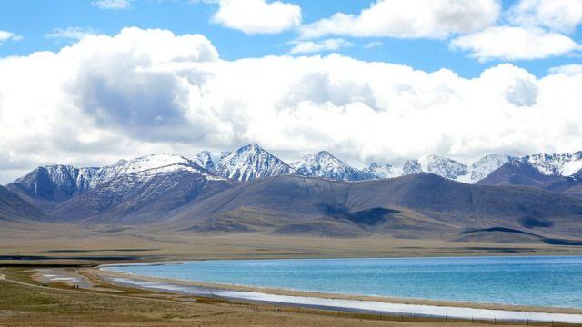 Paisaje de la meseta tibetana.