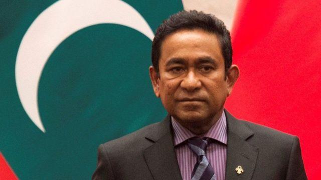 Former president Abdulla Yameen