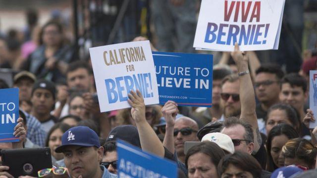 Partidarios de Bernie Sanders