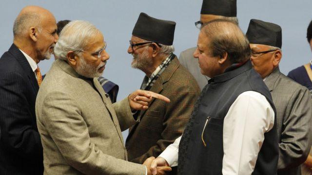 """Indian Prime Minister Narendra Modi,Pakistan""""s Prime Minister Nawaz Sharif"""