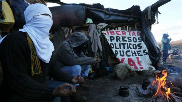 Protesta de la comunidad mapuche