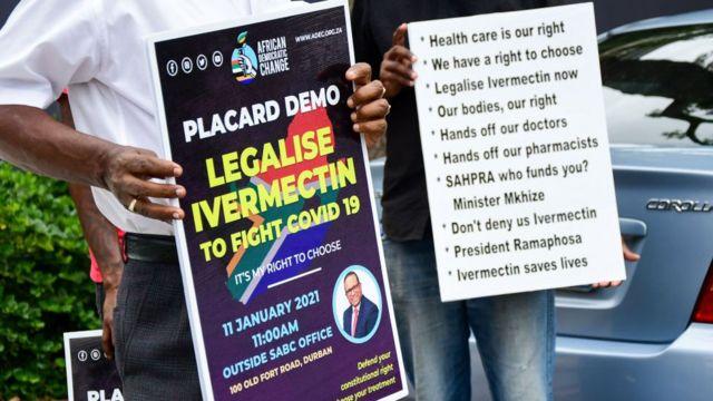 Na África do Sul, moradores pedem ivermectina (sem eficácia comprovada para combater covid)