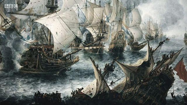 Imagen de barcos en guerra