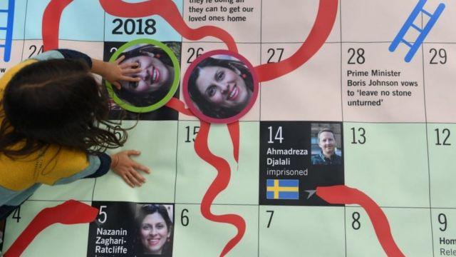 گابریل راتلکیف در کمپین آزادی مادرش