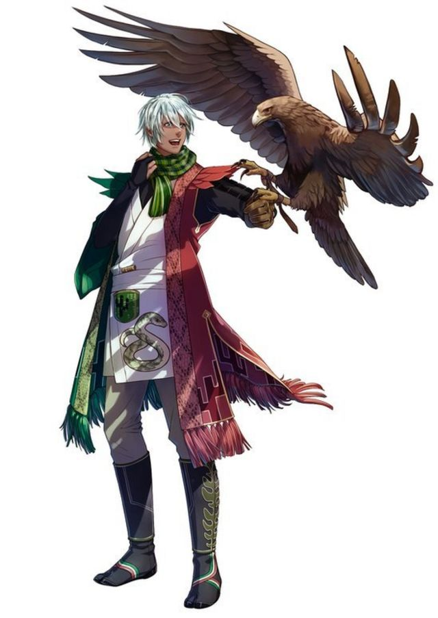 멕시코 사무라이 캐릭터엔 국기와 마찬가지로 독수리가 등장한다