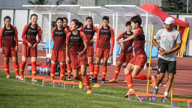 中國女子足球隊集訓