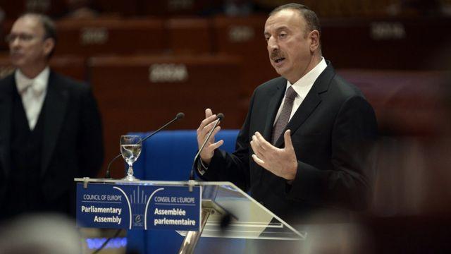 Prezident İlham Əliyev, AŞPA-da çıxışı zaman, 2014-cü il