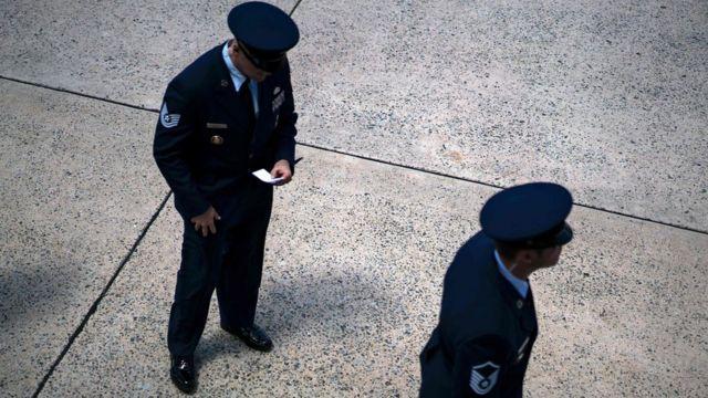 военные на базе ВВС США Эндрюс