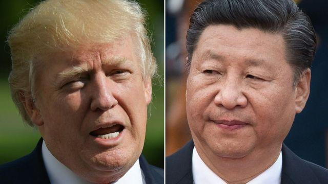 El presidente estadounidense, Donald Trump, y el presidente chino, Xi Jinping