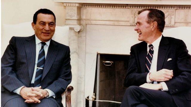 穆巴拉克與美國總統老布什