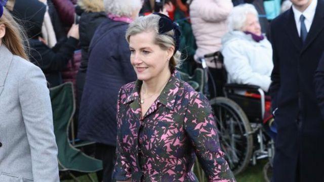 威塞克斯伯爵夫人蘇菲同樣出席了禮拜