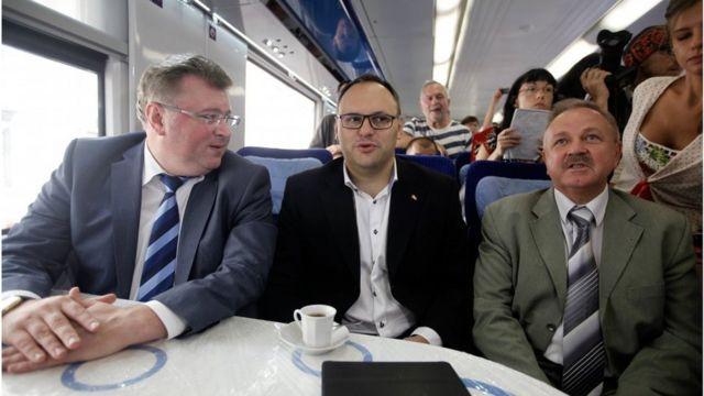 Каськів у поїзді