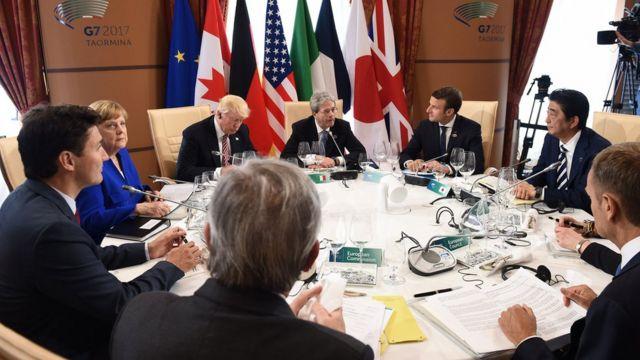 دیدار ترامپ با رهبران اروپا