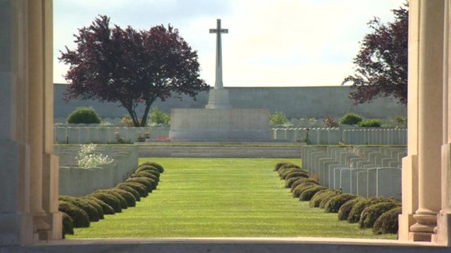 War memorial on the Somme