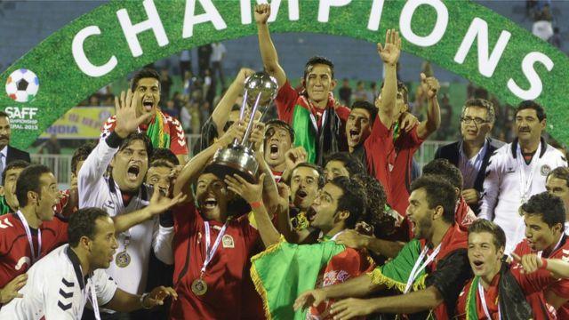 تیم فوتبال افغانستان در سال ۲۰۱۳ قهرمان جنوب آسیا شد