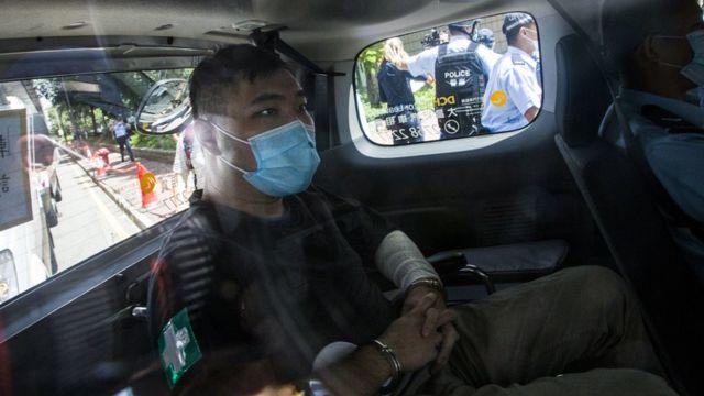 唐英杰被押上法庭(6/7/2020)