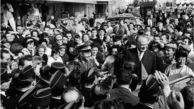 Юрий Гагарин в Париже. 29 сентября 1963 г.